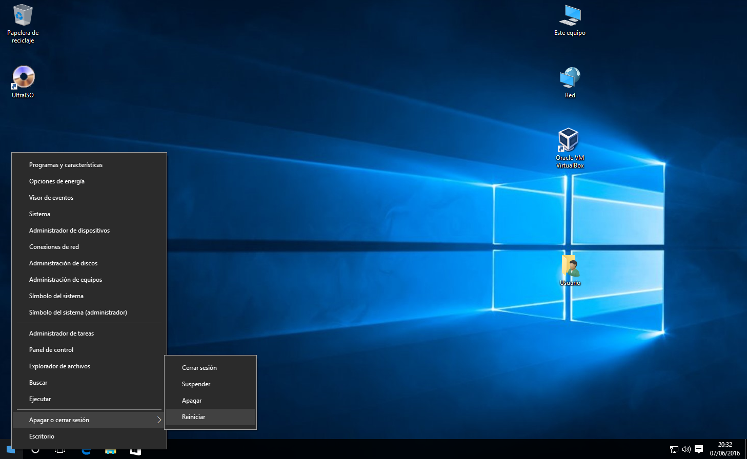 Reiniciar en Windows 10