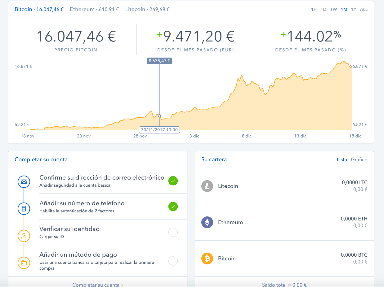 Página Principal CoinBase